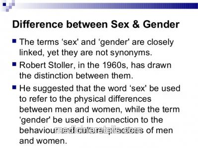 Differences between sex